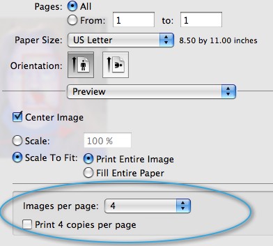 that you want in the Images per page drop-down menu. Mac Print Preview