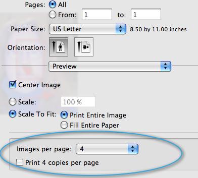 Mac Print Preview